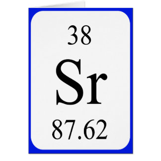 Element 38 card - Strontium white