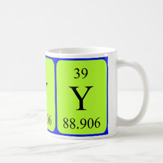 Element 39 mug - Yttrium