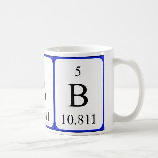 Element 5 white mug - Boron
