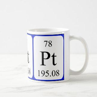 Element 78 white mug - Platinum