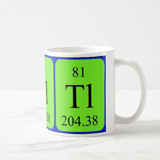 Element 81 mug - Thallium