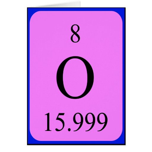 Element 8 card - Oxyge...