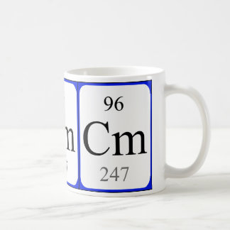 Element 96 white mug - Curium