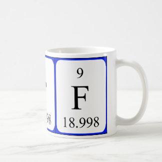 Element 9 white mug - Fluorine