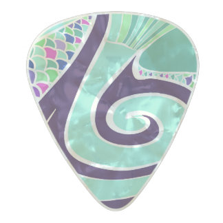 Element Water Pearl Celluloid Guitar Pick
