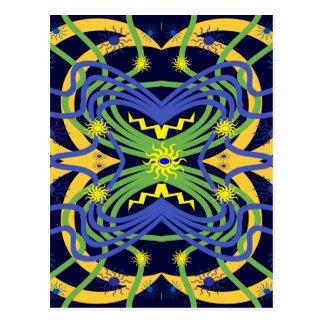 Elemental Abstract Postcard