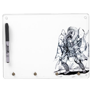 Elemental Air Samurai Dry Erase Board With Key Ring Holder