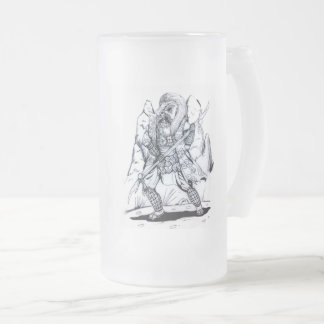 Elemental Air Samurai Frosted Glass Beer Mug