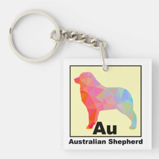 Elemental Aussie Double-Sided Square Acrylic Key Ring