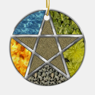Elemental Pagan Pentagram Pentacle Wiccan Ornament