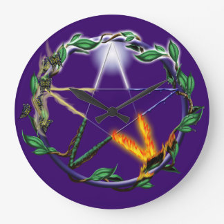 Elemental Pentacle Clock