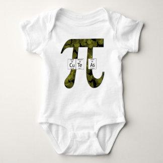 Elementally Cute as Pi (leaves) Baby Bodysuit