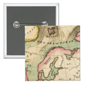 Elementary Map 15 Cm Square Badge