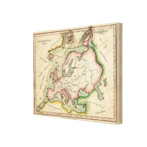 Elementary Map Gallery Wrap Canvas