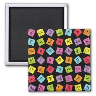 Elementary Periodic (Dark) Square Magnet