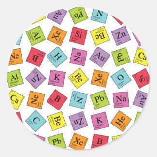 Elementary Periodic Round Sticker