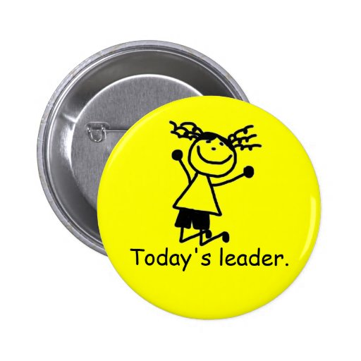 Elementary primary school leader button badge