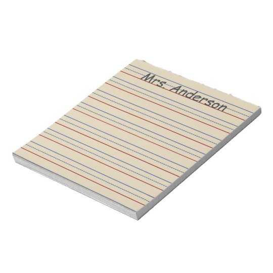 Elementary School Paper Personalised Notepad