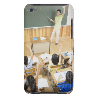 Elementary school students at school barely there iPod cases