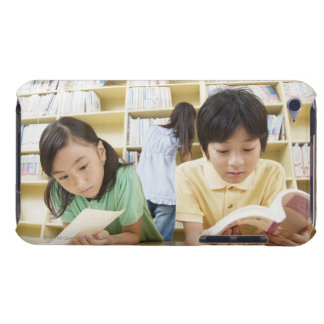 Elementary school students reading a book barely there iPod cover