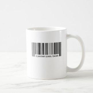 Elementary School Teacher Barcode Coffee Mug