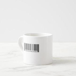 Elementary School Teacher Barcode Espresso Cup