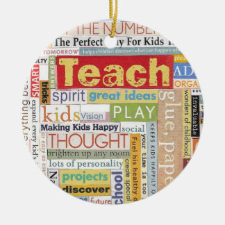 Elementary School Teacher Ceramic Ornament