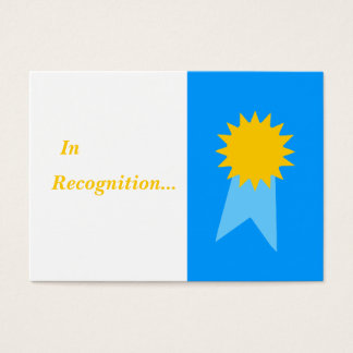 Elementary Teacher Blue Ribbon Student Awards Business Card