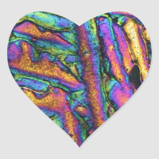 Elements/Bismuth chloride under the microscope Heart Sticker
