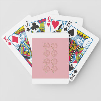 Elements design pink bicycle playing cards
