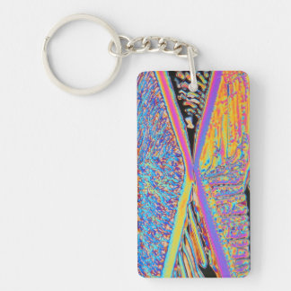 Elements/Erbium Double-Sided Rectangular Acrylic Key Ring