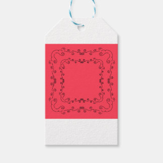 Elements folk ethno  red Vintage Gift Tags