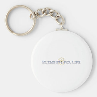 Elements For Life Blue Seed Of Life Logo Basic Round Button Key Ring