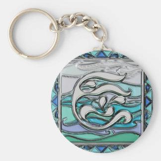 Elements series- Water symbol Basic Round Button Key Ring