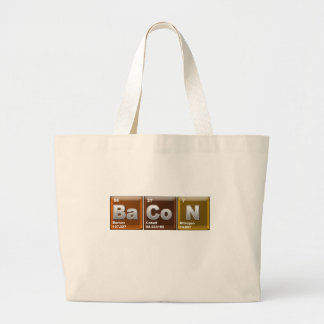 "Elements spelling ""BACON"" Large Tote Bag"
