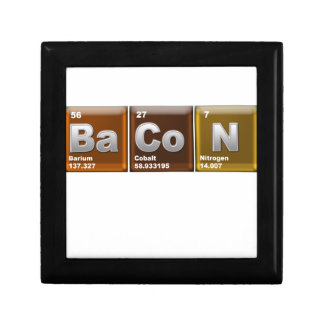 "Elements spelling ""BACON"" Small Square Gift Box"