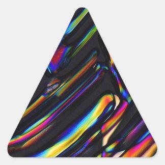 Elements/Zinc sulfate under the microscope Triangle Sticker