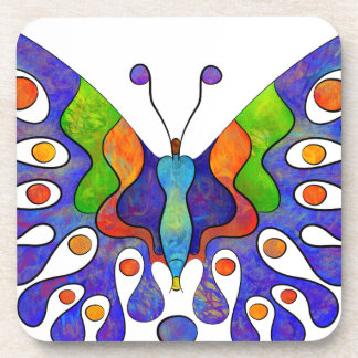 Elenissina - colourful butterfly coaster