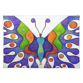 Elenissina - colourful butterfly placemat