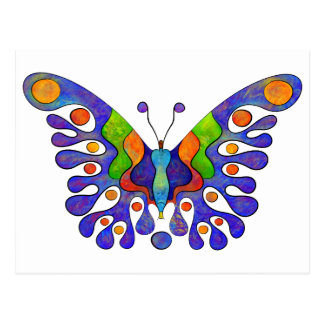 Elenissina - colourful butterfly postcard