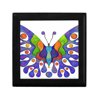 Elenissina - colourful butterfly small square gift box