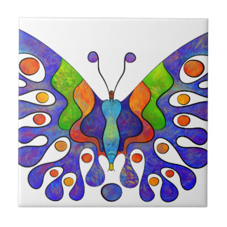 Elenissina - colourful butterfly tile