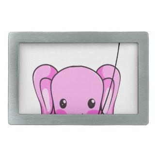 elephant3 rectangular belt buckle