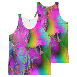 Elephant 1A All-Over Print Tank Top