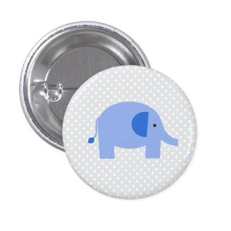 Elephant 3 Cm Round Badge