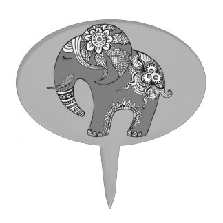 Elephant 4 cake picks