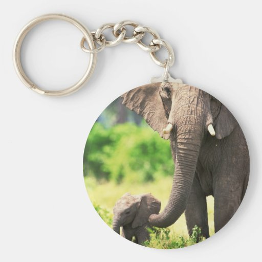 Elephant and Baby Keychains