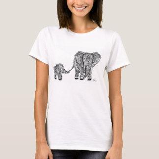 Elephant and baby tee