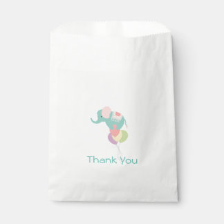 Elephant and Balloons Baby Shower Favor Bag