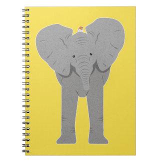 elephant and bird notebooks